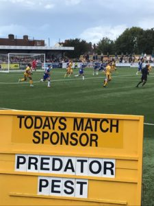 Predator Pest Solution Match day sponsor Pest control London Surrey kent